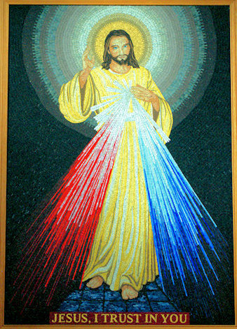 The Divine Mercy Mosaic - St Matthew - West Norwwod